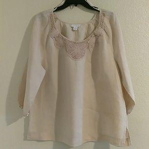 Plus size Charter Club linen blouse